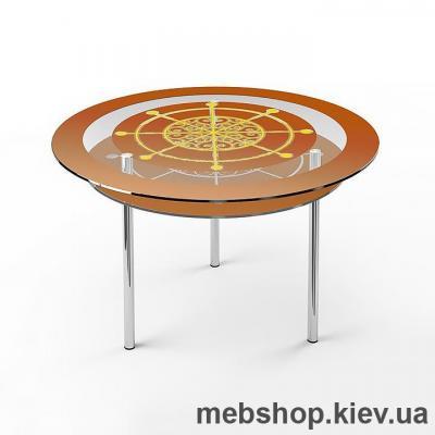 Купить Обеденный стол стеклянный ESCADO R2 нанесение рисунка, узора, фотопечати или заливка цветом столешницы и полки. Фото