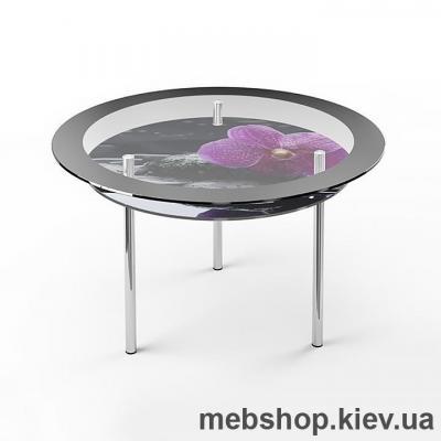 Обеденный стол стеклянный ESCADO R2 нанесение рисунка, узора, фотопечати или заливка цветом столешницы и полки