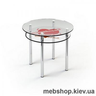 Купить Обеденный стол стеклянный ESCADO R4 верх прозрачный; низ нанесение рисунка, узора, фотопечати или заливка цветом. Фото