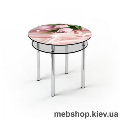 Купить Обеденный стол стеклянный ESCADO R4 верх нанесение рисунка, узора, фотопечати или заливка цветом; низ прозрачный. Фото