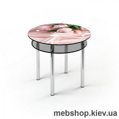 Купить Обеденный стол стеклянный ESCADO R4 верх нанесение рисунка, узора, фотопечати или заливка цветом; низ матовый. Фото