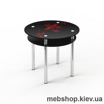 Обеденный стол стеклянный ESCADO R4 нанесение рисунка, узора, фотопечати или заливка цветом столешницы и полки