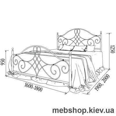 Кровать металлическая Parma, Парма (Металл-Дизайн)