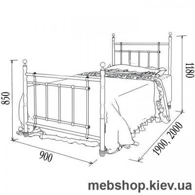 Кровать металлическая Napoli mini, Неаполь мини (Металл-Дизайн)