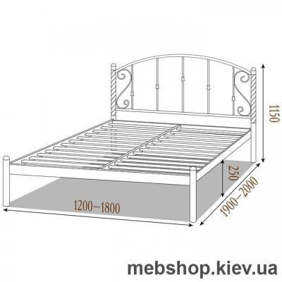 Кровать металлическая Шарлотта цвет черный бархат; черный (Металл-Дизайн)