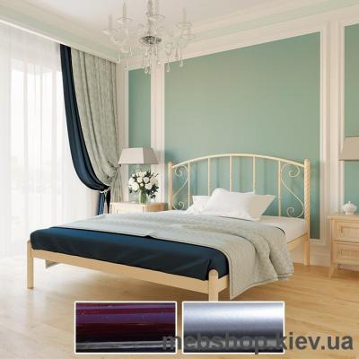 """Кровать металлическая Шарлотта цвет бордо; металлик; палитра """"Bella Letto"""" (Металл-Дизайн)"""
