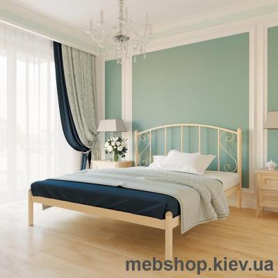 """Кровать металлическая Шарлотта цвет золото; палитра """"Структура"""" (Металл-Дизайн)"""