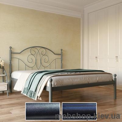Кровать металлическая Офелия цвет черный бархат; черный (Металл-Дизайн)