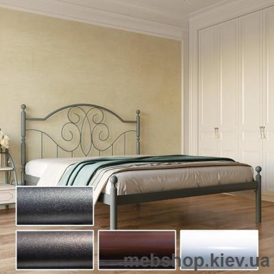 Кровать металлическая Офелия цвет белый; черная медь; коричневый; черное золото (Металл-Дизайн)