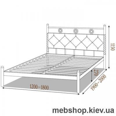 Кровать металлическая Белла цвет черная медь; коричневый; черное золото (Металл-Дизайн)
