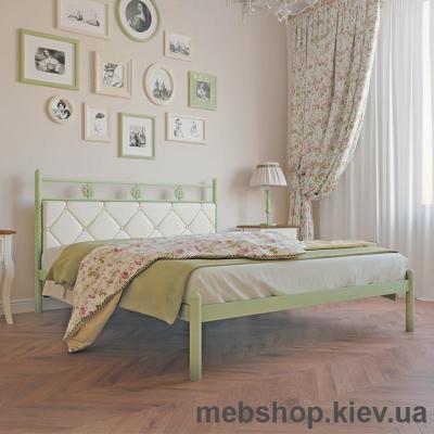 """Кровать металлическая Белла цвет золото; палитра """"Структура"""" (Металл-Дизайн)"""