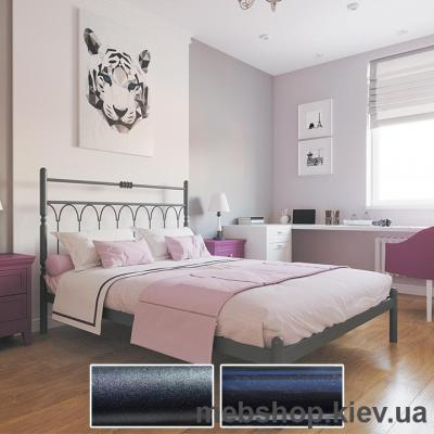 Купить Кровать металлическая Тиффани цвет черный бархат; черный (Металл-Дизайн). Фото