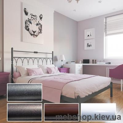 Купить Кровать металлическая Тиффани цвет белый; черная медь; коричневый; черное золото (Металл-Дизайн). Фото