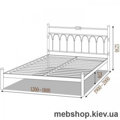 """Кровать металлическая Тиффани цвет золото; палитра """"Структура"""" (Металл-Дизайн)"""