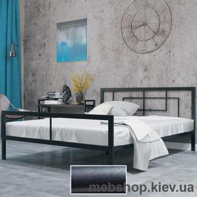 Купить Кровать ЛОФТ металлическая Квадро цвет черный бархат (Металл-Дизайн). Фото