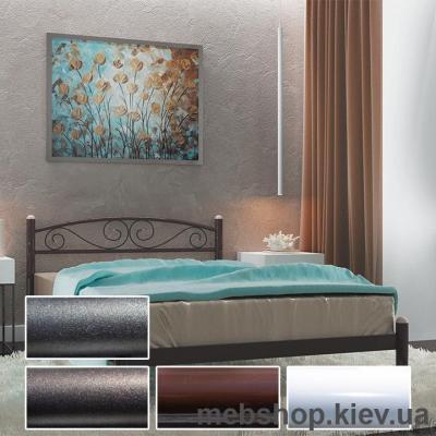Кровать металлическая Вероника цвет белый; черная медь; коричневый; черное золото (Металл-Дизайн)