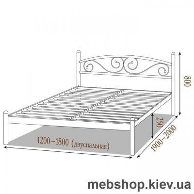 """Кровать металлическая Вероника цвет золото; палитра """"Структура"""" (Металл-Дизайн)"""
