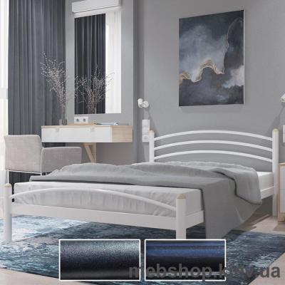 Купить Кровать металлическая Маргарита цвет черный бархат; черный (Металл-Дизайн). Фото
