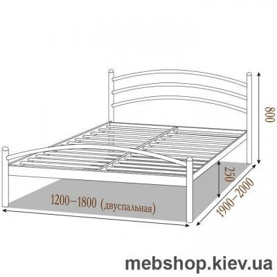 Кровать металлическая Маргарита цвет черный бархат; черный (Металл-Дизайн)