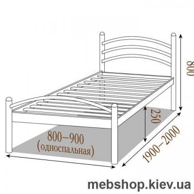 Кровать металлическая Маргарита цвет бежевый; белый бархат (Металл-Дизайн)