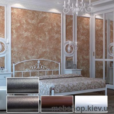 Купить Кровать металлическая Кассандра цвет белый; черная медь; коричневый; черное золото (Металл-Дизайн). Фото