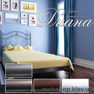 Купить Кровать металлическая Диана мини цвет белый; черная медь; коричневый; черное золото (Металл-Дизайн). Фото