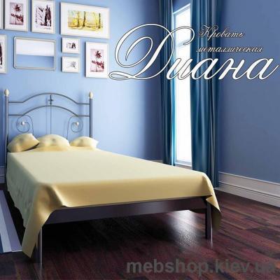 Кровать металлическая Диана мини цвет белый; черная медь; коричневый; черное золото (Металл-Дизайн)