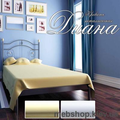 Купить Кровать металлическая Диана мини цвет бежевый; белый бархат (Металл-Дизайн). Фото