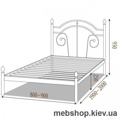 Кровать металлическая Диана мини цвет бежевый; белый бархат (Металл-Дизайн)