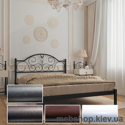 Купить Кровать металлическая Анжелика цвет белый; черная медь; коричневый; черное золото (Металл-Дизайн). Фото