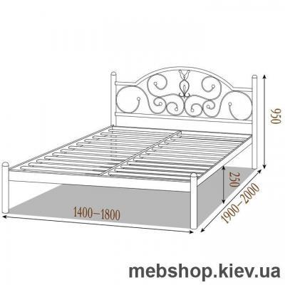 Кровать металлическая Анжелика цвет белый; черная медь; коричневый; черное золото (Металл-Дизайн)