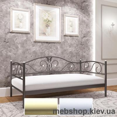 Софа металлическая Анжелика мини цвет бежевый; белый бархат (Металл-Дизайн)