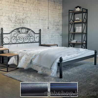 Купить Кровать металлическая Франческа цвет черный бархат; черный (Металл-Дизайн). Фото