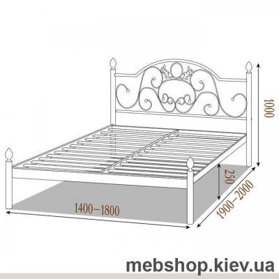 Кровать металлическая Франческа цвет черный бархат; черный (Металл-Дизайн)