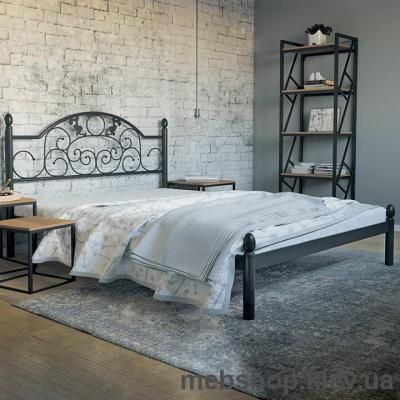 """Кровать металлическая Франческа цвет золото; палитра """"Структура"""" (Металл-Дизайн)"""