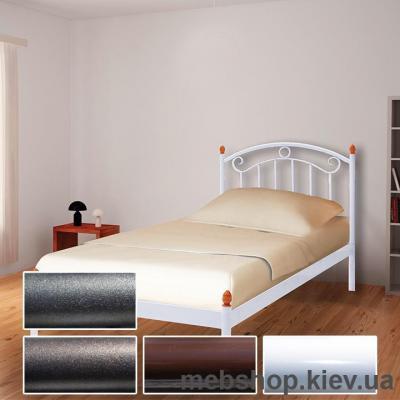 Купить Кровать металлическая Монро мини белый; черная медь; коричневый; черное золото (Металл-Дизайн). Фото