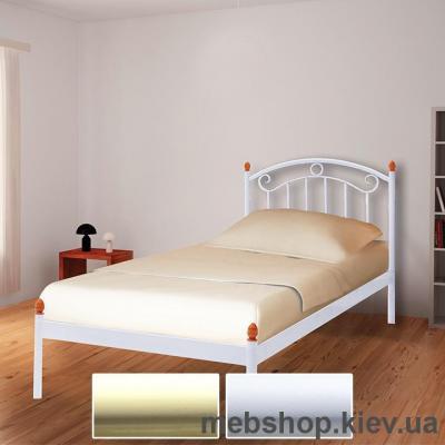 Купить Кровать металлическая Монро мини цвет бежевый; белый бархат (Металл-Дизайн). Фото