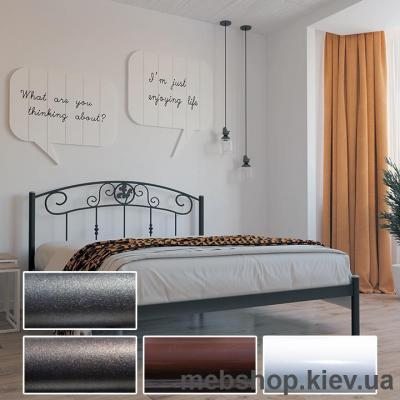 Купить Кровать металлическая Монро белый; черная медь; коричневый; черное золото (Металл-Дизайн). Фото