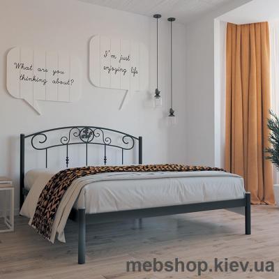 Кровать металлическая Монро цвет бежевый; белый бархат (Металл-Дизайн)