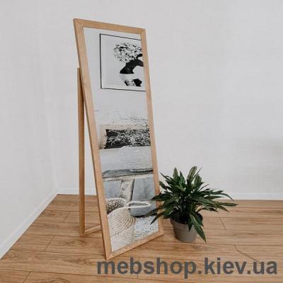 """Купить Зеркало напольное в деревянной раме """"HomeDeco"""" светло-коричневое. Фото"""