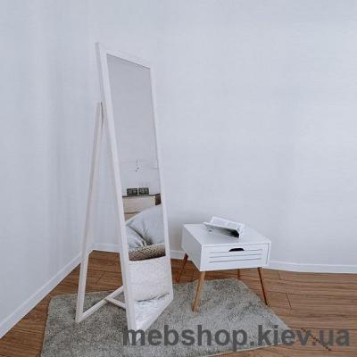 """Купить Зеркало напольное в деревянной раме """"HomeDeco"""" сосна белая. Фото"""