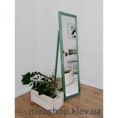 """Зеркало напольное в деревянной раме """"HomeDeco"""" зеленое"""