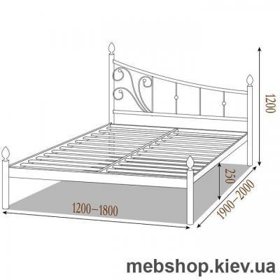 Кровать металлическая Калипсо цвет белый; черная медь; коричневый; черное золото (Металл-Дизайн)