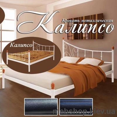 Купить Кровать металлическая Калипсо 2 больших быльца цвет черный бархат; черный (Металл-Дизайн). Фото