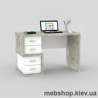 Купить Компьютерный стол FLASHNIKA Мокос-1 Бетон, Нимфея Альба. Фото