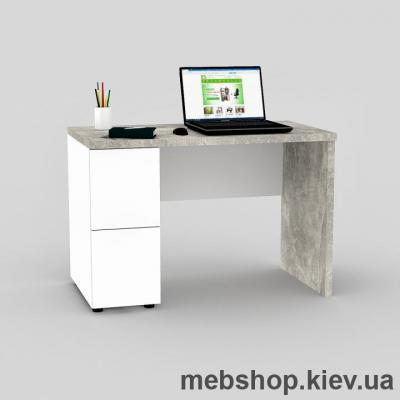 Купить Компьютерный стол FLASHNIKA Мокос-8 Бетон, Нимфея Альба. Фото