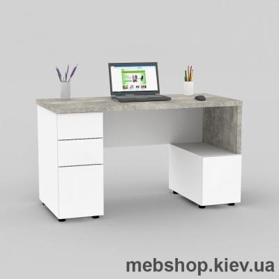 Купить Компьютерный стол FLASHNIKA Мокос-9 Бетон, Нимфея Альба. Фото