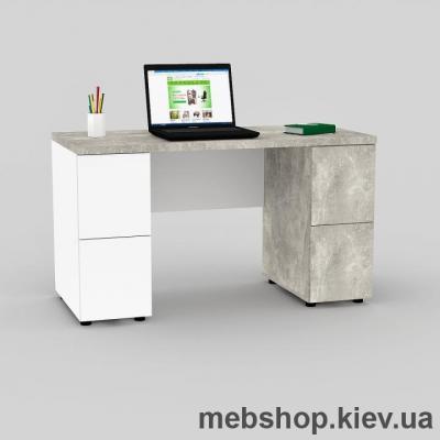 Купить Компьютерный стол FLASHNIKA Мокос-12 Бетон, Нимфея Альба. Фото