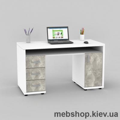 Купить Компьютерный стол FLASHNIKA Мокос-17 Нимфея Альба, Бетон. Фото
