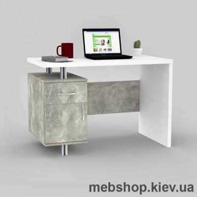 Купить Компьютерный стол FLASHNIKA Мокос-22 Бетон, Нимфея Альба. Фото